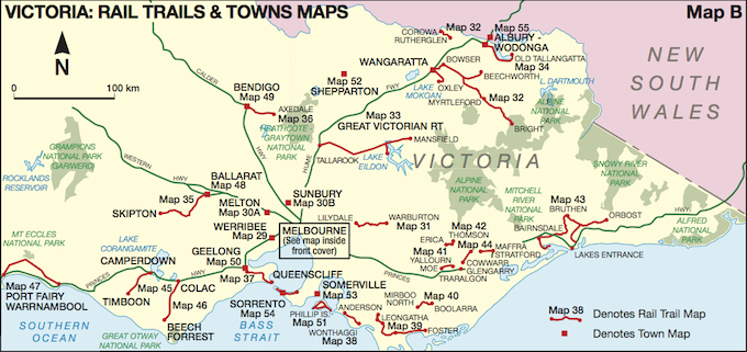Bike Paths - Map of victoria australia with towns